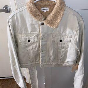 Cropped Sherpa Jacket